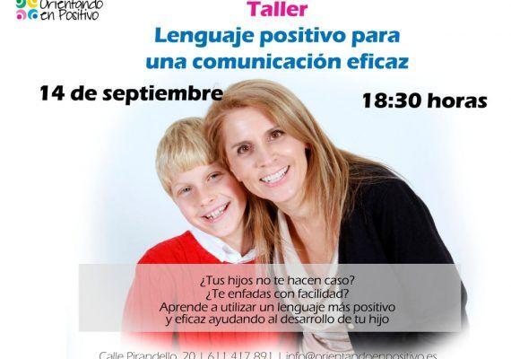 Talleres para padres y madres en Málaga con Orientando en Positivo en septiembre