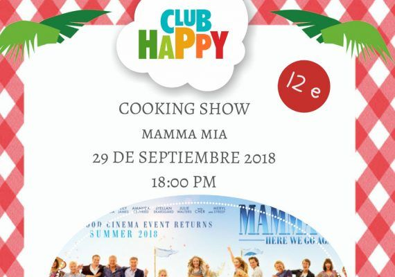 Taller de cocina infantil con temática de la película 'Mamma Mia' en el Club Happy Málaga