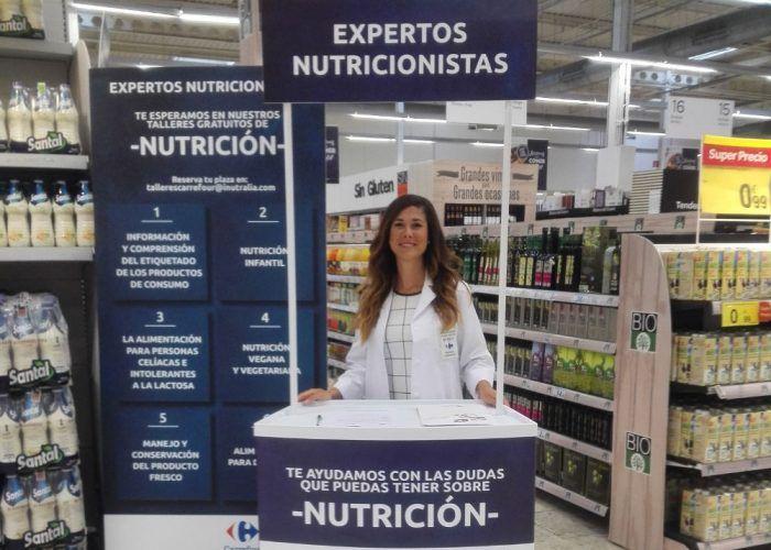 Talleres gratis sobre nutrición en Carrefour Los Patios de Málaga en octubre
