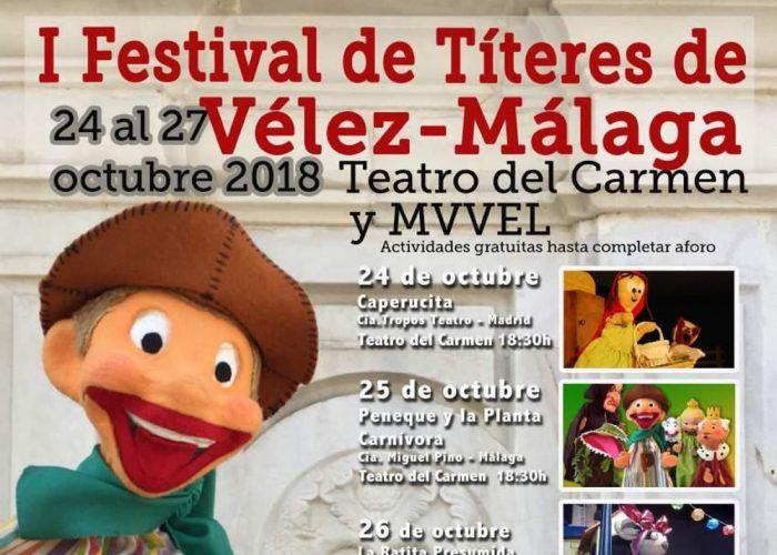 Festival infantil de títeres gratis en Vélez-Málaga