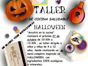 Taller infantil de cocina saludable sobre Halloween en Málaga