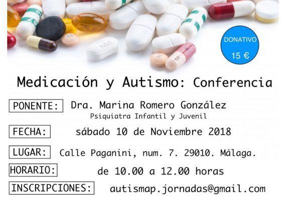 Conferencia sobre medicación y autismo para padres y profesionales en Málaga