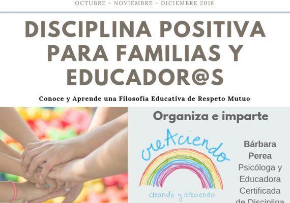 Charla gratis y cursos de Disciplina Positiva para familias y educadores con CreAciendo Málaga