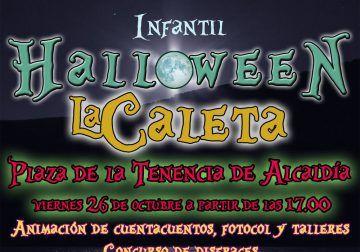 Fiesta de Halloween en La Caleta de Vélez con magia, disfraces y casa del terror