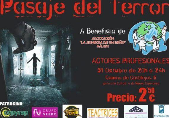 Pasaje del terror solidario en Málaga para celebrar Halloween 2018