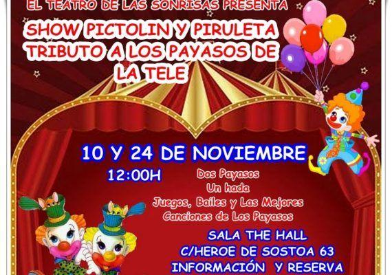 Espectáculo infantil tributo a Los Payasos de la Tele en Málaga