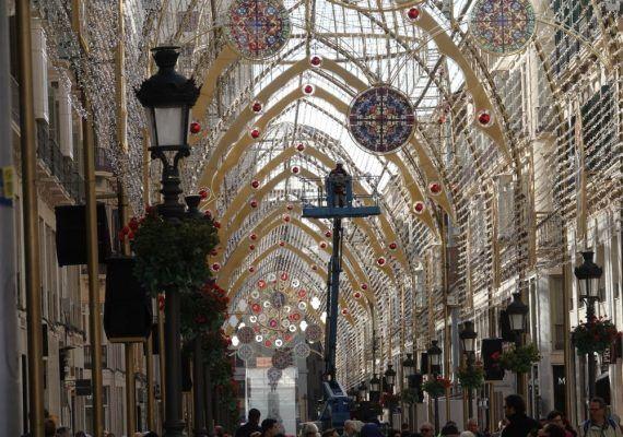 Fiesta infantil en el centro de Málaga para inaugurar el alumbrado de Navidad