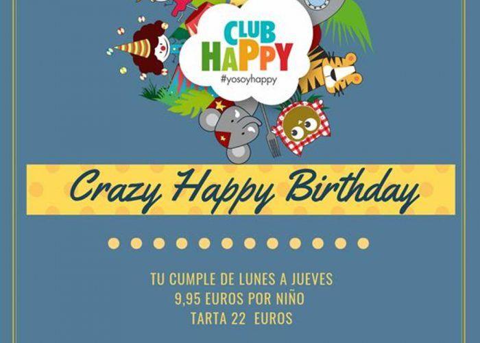 Oferta en los cumpleaños infantiles del Club Happy Málaga de lunes a jueves