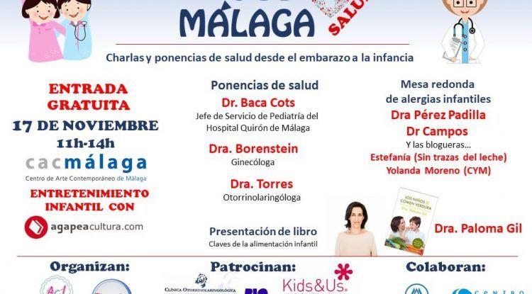 Charlas gratis sobre salud para madres y padres con entretenimiento para niños en el CAC Málaga