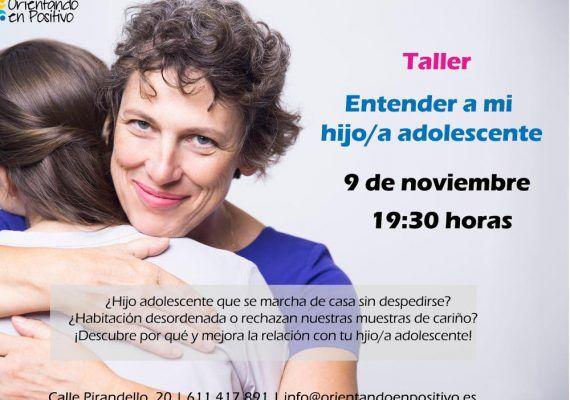 Talleres sobre la educación de hijos adolescentes en noviembre con Orientando en Positivo (Málaga)