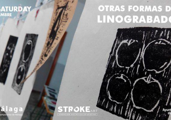 Taller de linograbado para niños en Málaga este sábado
