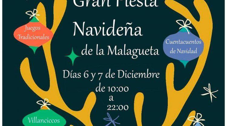 Fiesta de Navidad con actividades para niños en La Malagueta (Málaga)