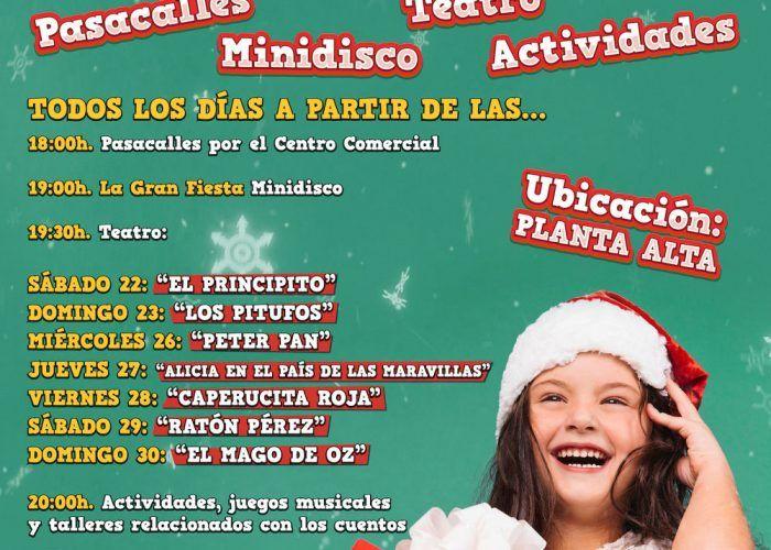 Actividades y teatro de Navidad gratis para niños en CC Rincón de la Victoria