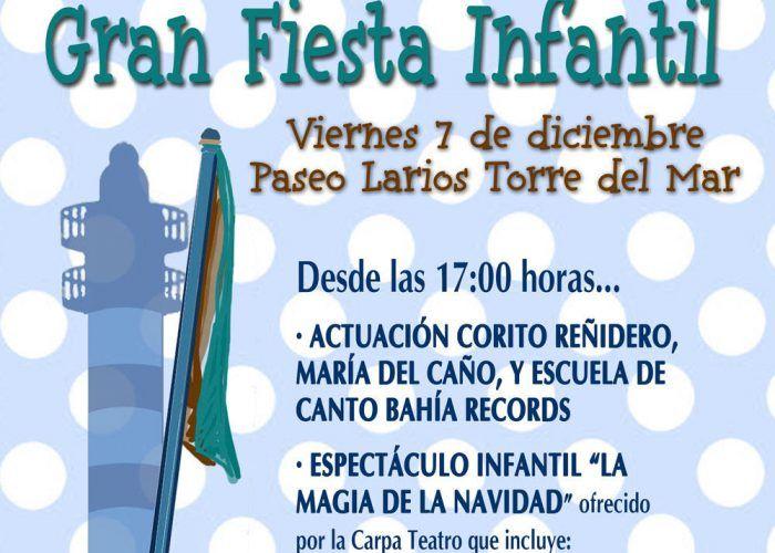 Fiesta infantil de Navidad en Torre del Mar el viernes