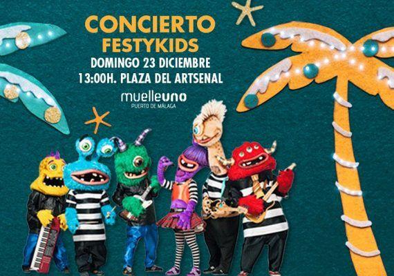 Concierto gratis con niños de rock monstruoso en Muelle Uno Málaga
