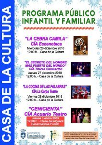 Teatro gratis para niños esta Navidad en Benalmádena