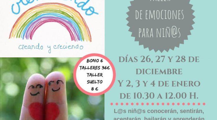 Talleres infantiles de Navidad sobre emociones con CreAciendo Málaga
