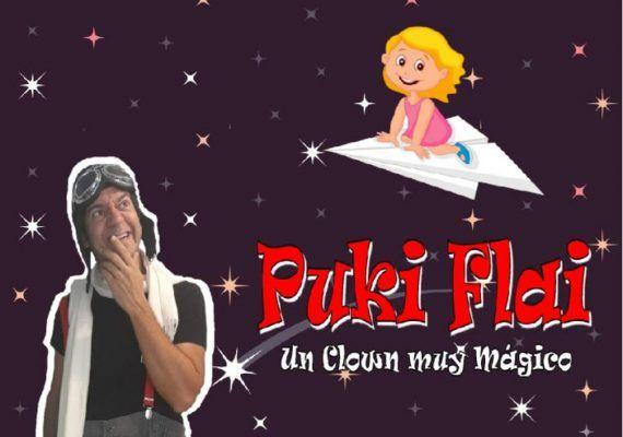 Espectáculo infantil del payaso Puki Flai en La Cochera Cabaret de Málaga este domingo