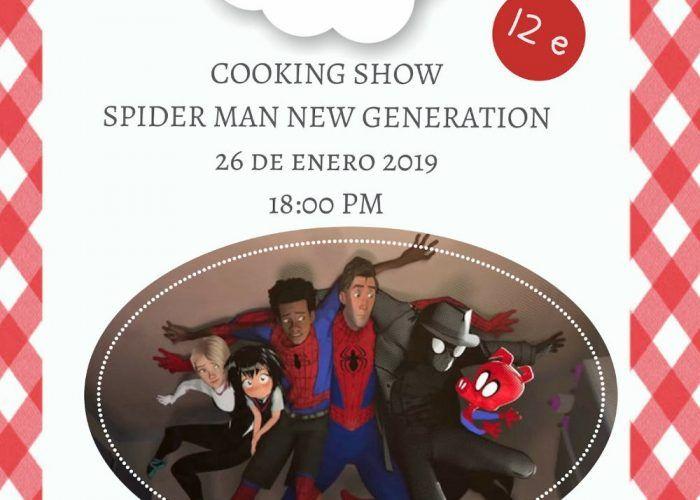 Taller de cocina para niños sobre Spiderman en el Club Happy Málaga