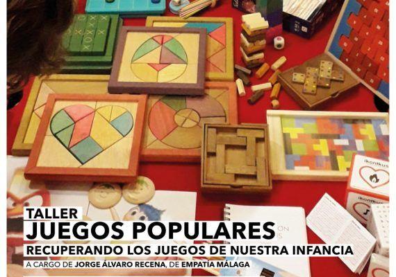 Taller gratis para niños de juegos populares en el centro de Málaga