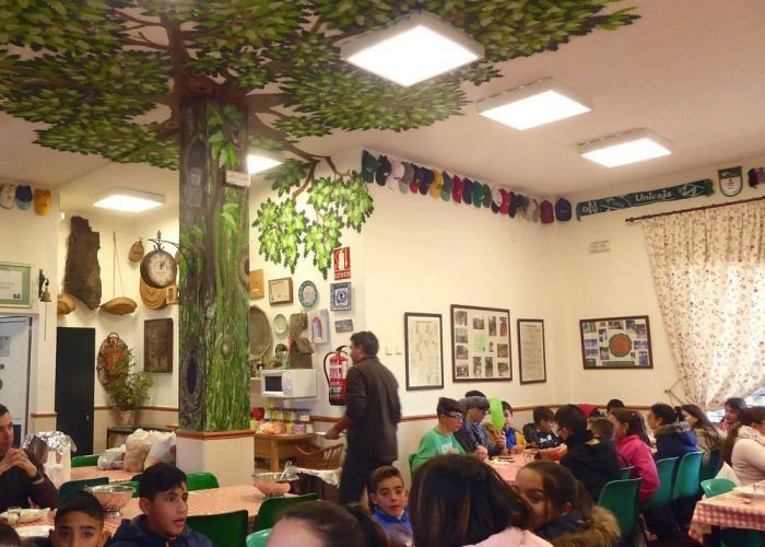 Campamento infantil en Las Contadoras de Málaga