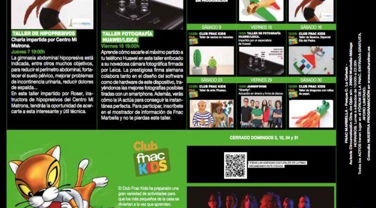 Actividades gratis para niños en marzo en Fnac Marbella