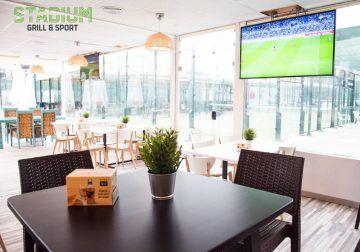 Cumpleaños con fútbol y otros deportes en el restaurante Stadium Grill & Sport de Teatinos (Málaga)