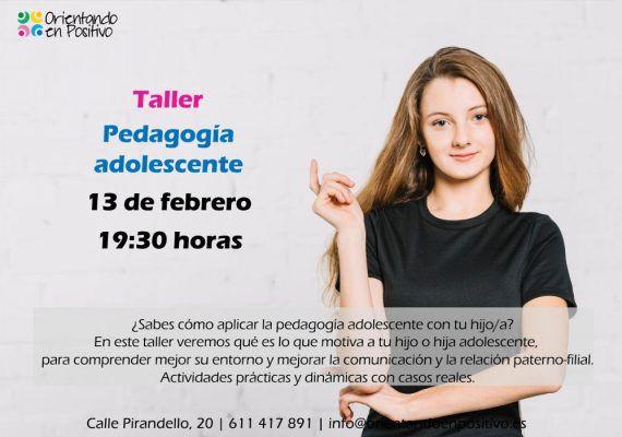 Talleres sobre educación de hijos adolescentes en febrero con Orientando en Positivo (Málaga)