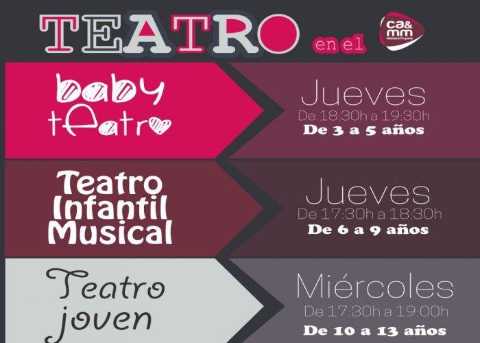 Extraescolares de teatro para bebés, niños y adolescentes en el CAMM deMálaga