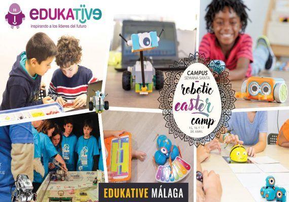 Semana Santa tecnológica y en inglés con el campamento de Edukative Málaga