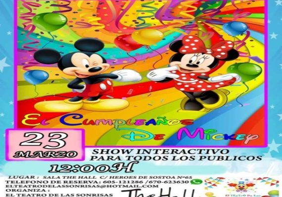 Celebra en familia el cumpleaños de Mickey con el espectáculo del teatro de las sonrisas en Málaga