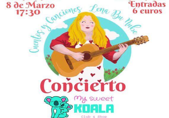 Sorteo de 2 entradas para un adulto y un niño para el concierto infantil de Lena Bu Nube este viernes en My Sweet Koala (Rincón de la Victoria