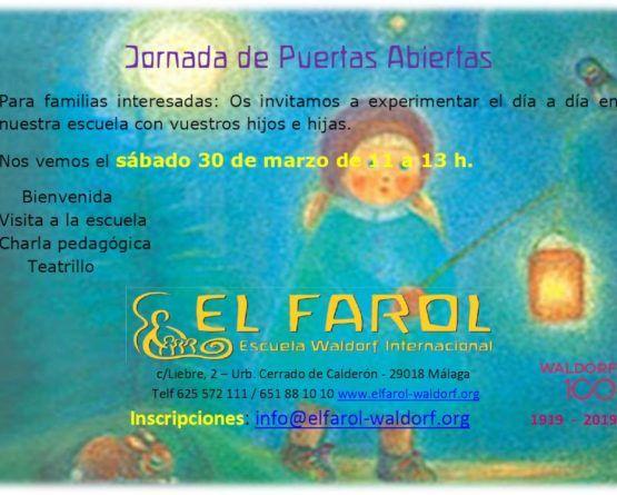 Jornada de puertas abiertas en la Escuela Waldorf El Farol de Málaga