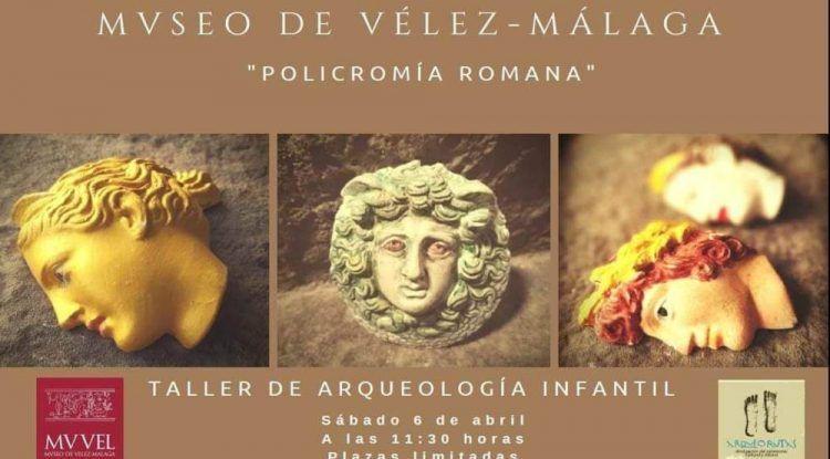 Taller de policromía romana gratis para niños en Vélez-Málaga