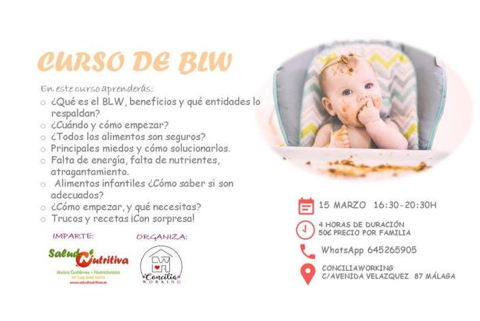 Taller para madres y padres sobre alimentación infantil BLW en ConciliaWorking (Málaga)