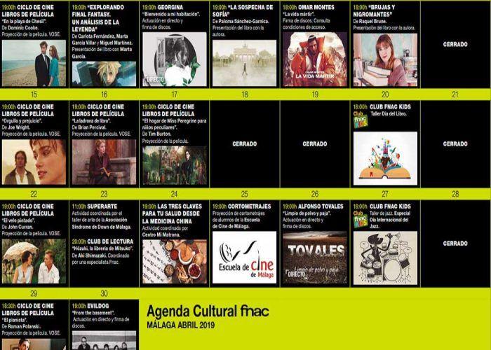 Cine, lectura y música gratis para niños con Fnac Málaga en abril