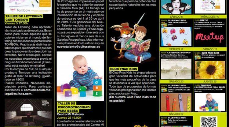 Talleres gratis para niños y bebés con Fnac Marbella en abril