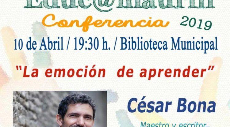 Alhaurín el Grande recibirá a César Bona en una nueva conferencia de Educ@lhaurín