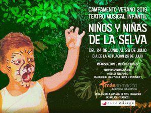 Campamento de verano para niños sobre teatro musical en Málaga