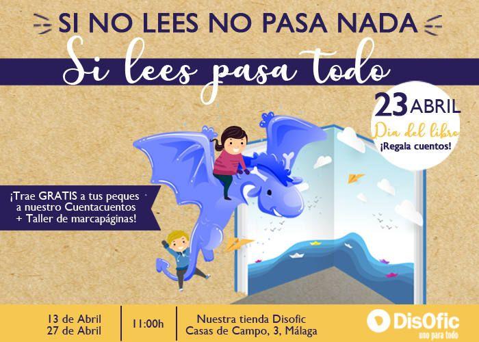 Cuentacuentos gratuitos para los más pequeños de la mano de la papelería Disofic en Málaga