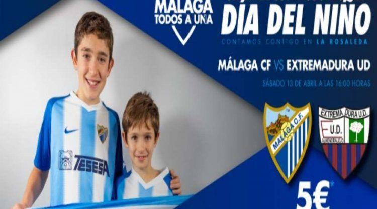 Día del niño con precios especiales este sábado en La Rosaleda