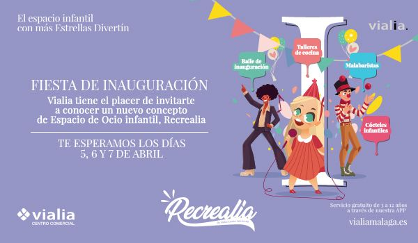 Fiesta de inauguración del nuevo espacio infantil de Vialia Málaga