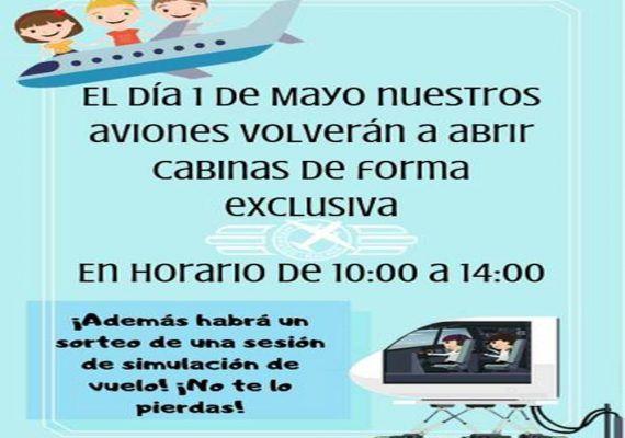 Entrada gratis a las cabinas de aviones del Museo Aeronáutico de Málaga el 1 de mayo