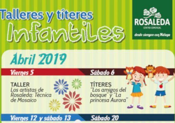 Talleres y títeres infantiles gratis en el CC Rosaleda de Málaga en abril