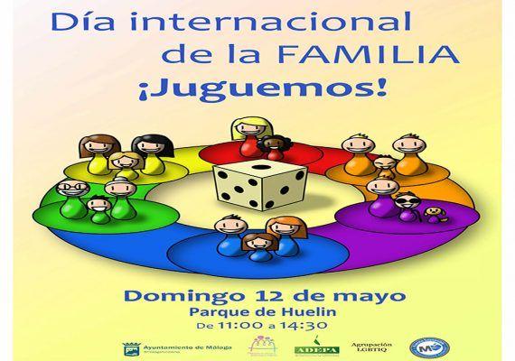 Este domingo celebra en el parque de Huelin el Día Internacional de la Familia ¡Juguemos!