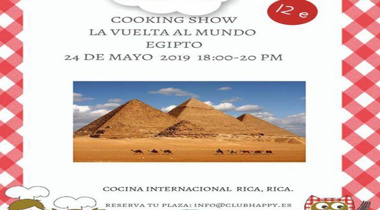 Taller de cocina 'La vuelta al mundo Egipto' para peques en el Club Happy