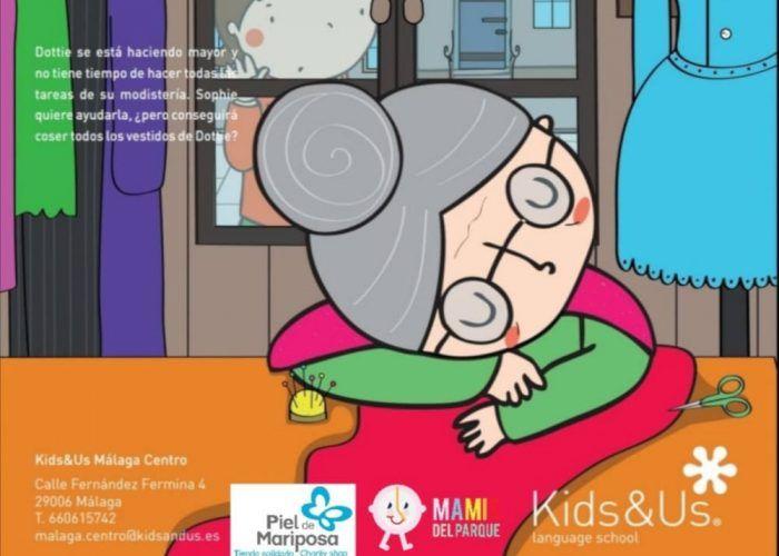 Cuentacuentos solidario en inglés para niños en Kids&Us Málaga Centro