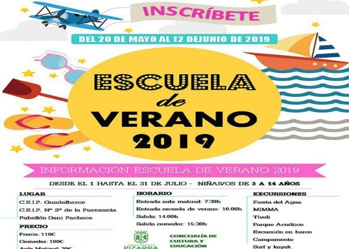 Escuela de verano para niños en Pizarra con actividades y excursiones