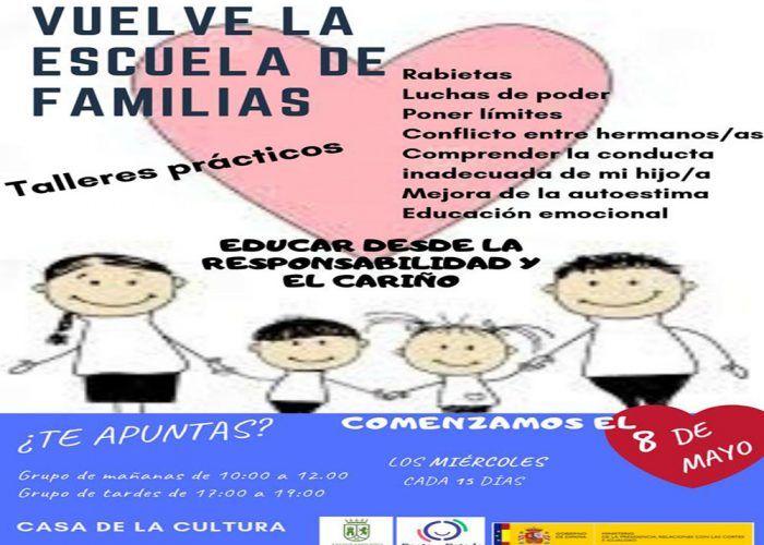 El 8 de mayo comienza la Escuela de Familias de Pizarra para padres y madres con niños de cualquier edad