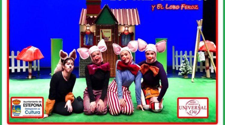 Teatro Musical Familiar 'Los Tres Cerditos y el Lobo Feroz' en Estepona el 31 de mayo